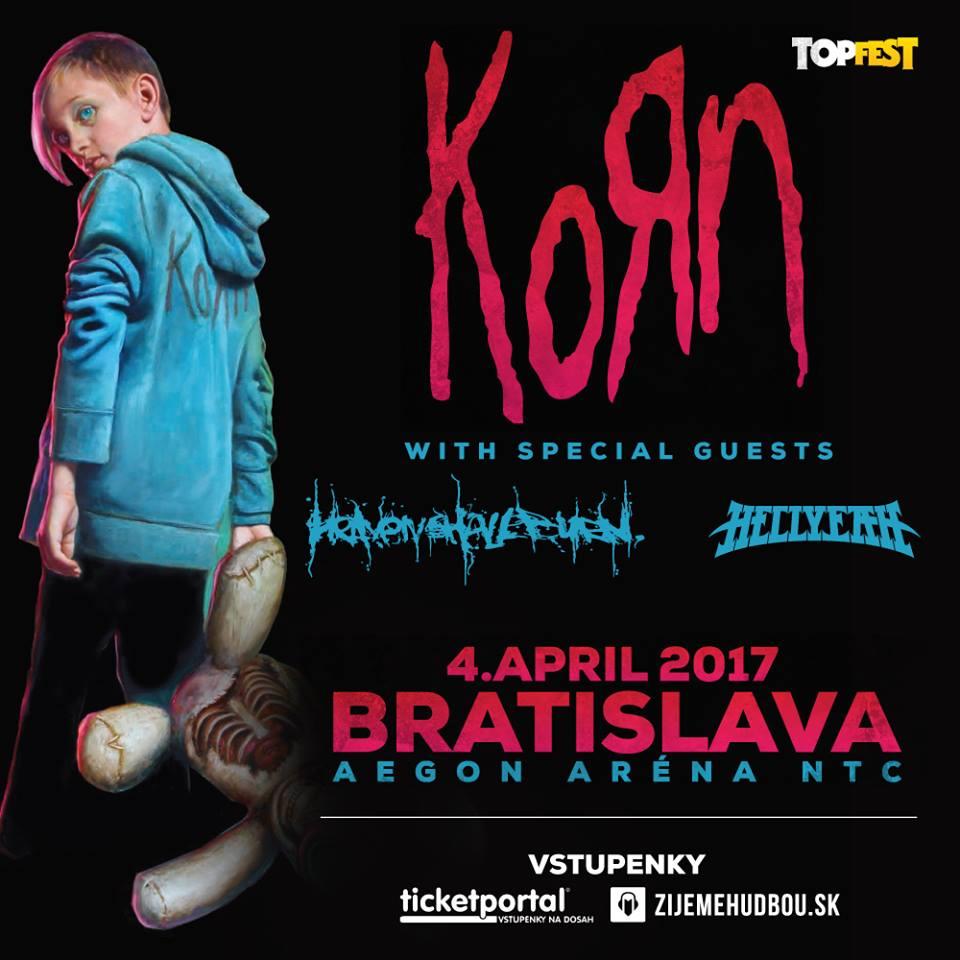 Korn v Bratislave už 4.4.2017!