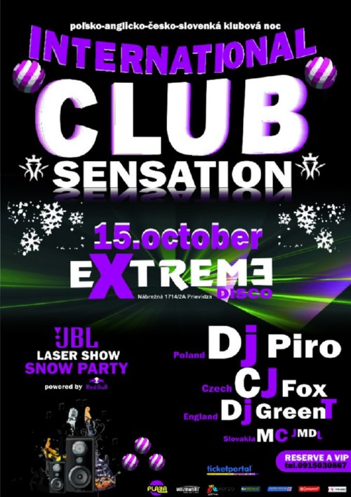 club sensation extreme prievidza