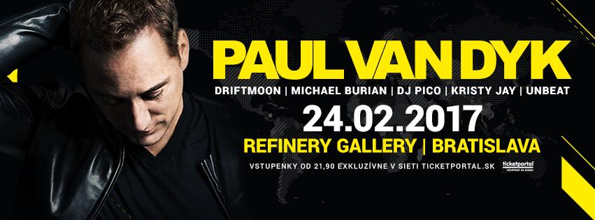 Paul Van Dyk Bratislava - Refinery Gallery 24.2.2017
