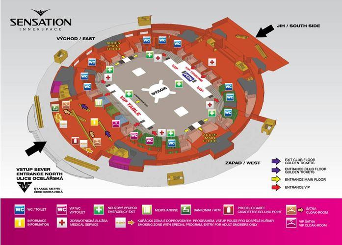 Sensation 2012 mapa