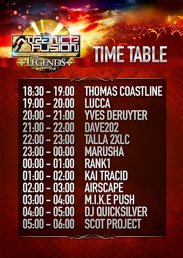 TF The Legends TimeTable