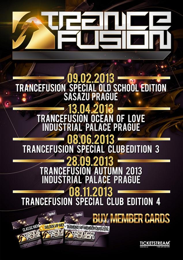 TranceFusion Dates 2013
